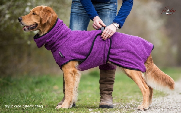 DryUp Cape Hundebademantel Bilberry